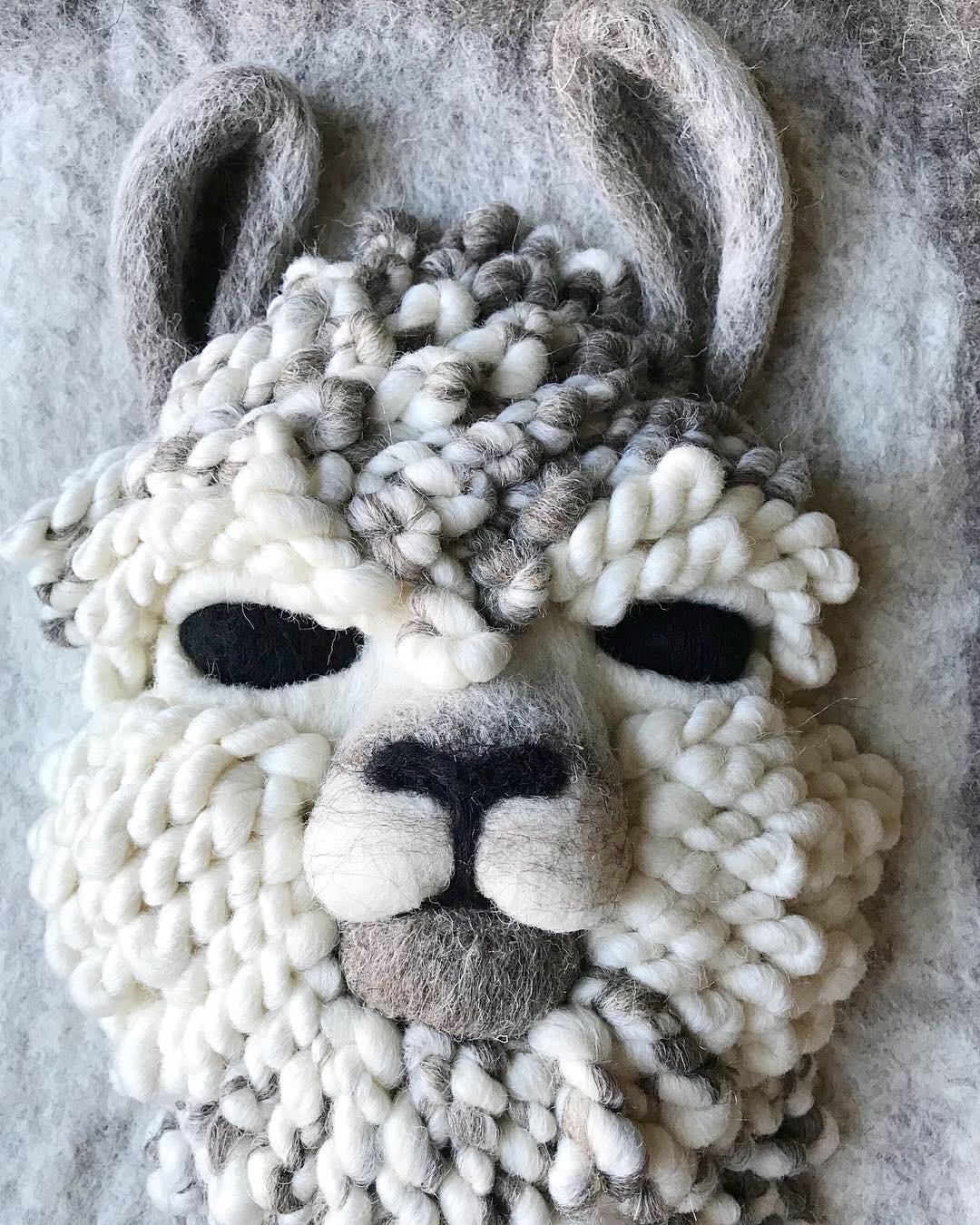 Detail of Llama Commission