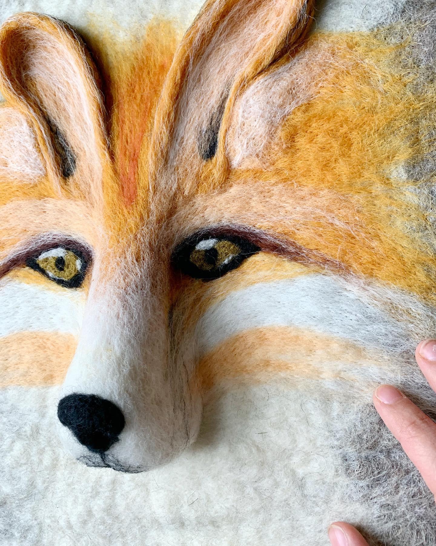 Detail of Fox #2, 2019