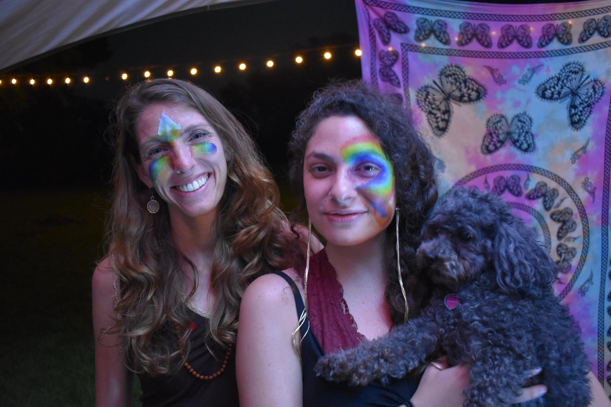 Meredith Nile, myself and my pup Misty aka as Miss Tea at the LOVEATX campout.
