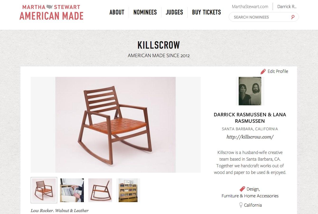 Killscrow. Martha Stewart American Made.
