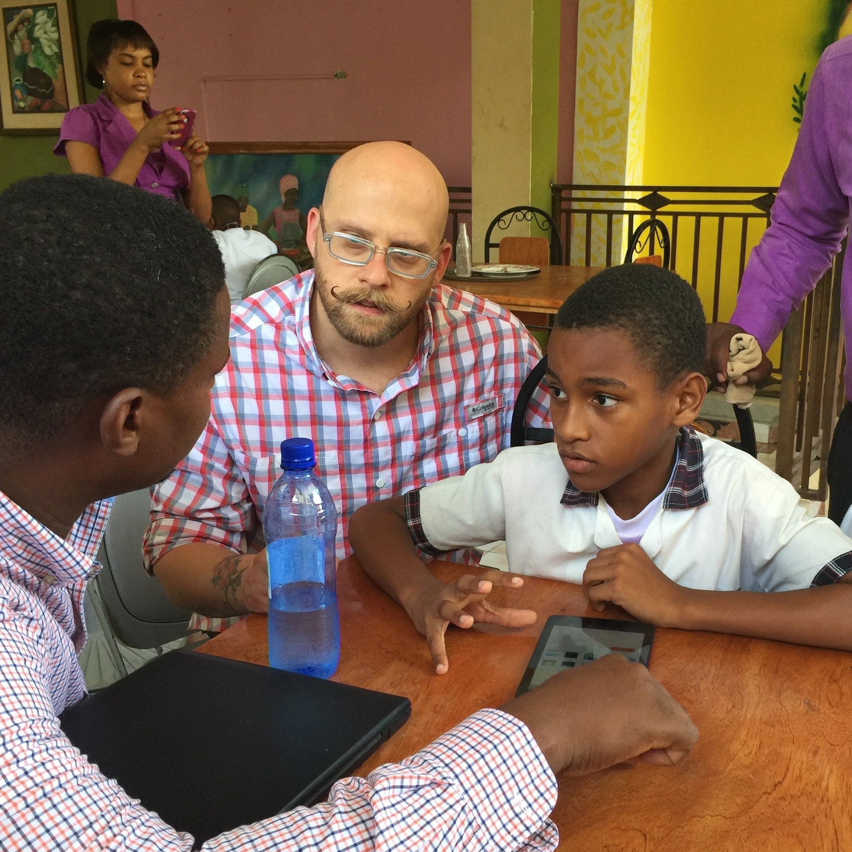 Testing rapid porototypes with students in Haiti.