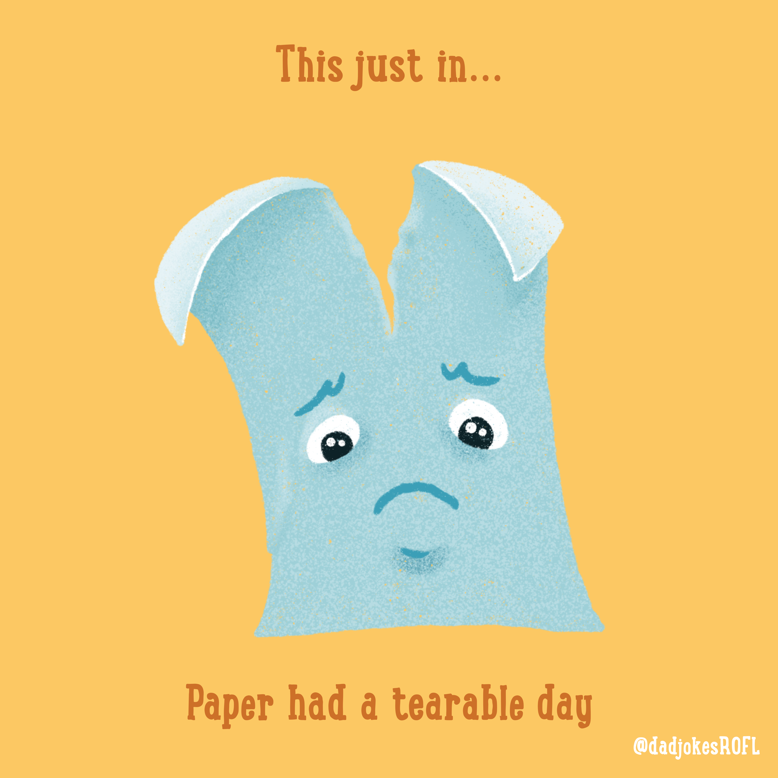This just in... Paper has a tearable day