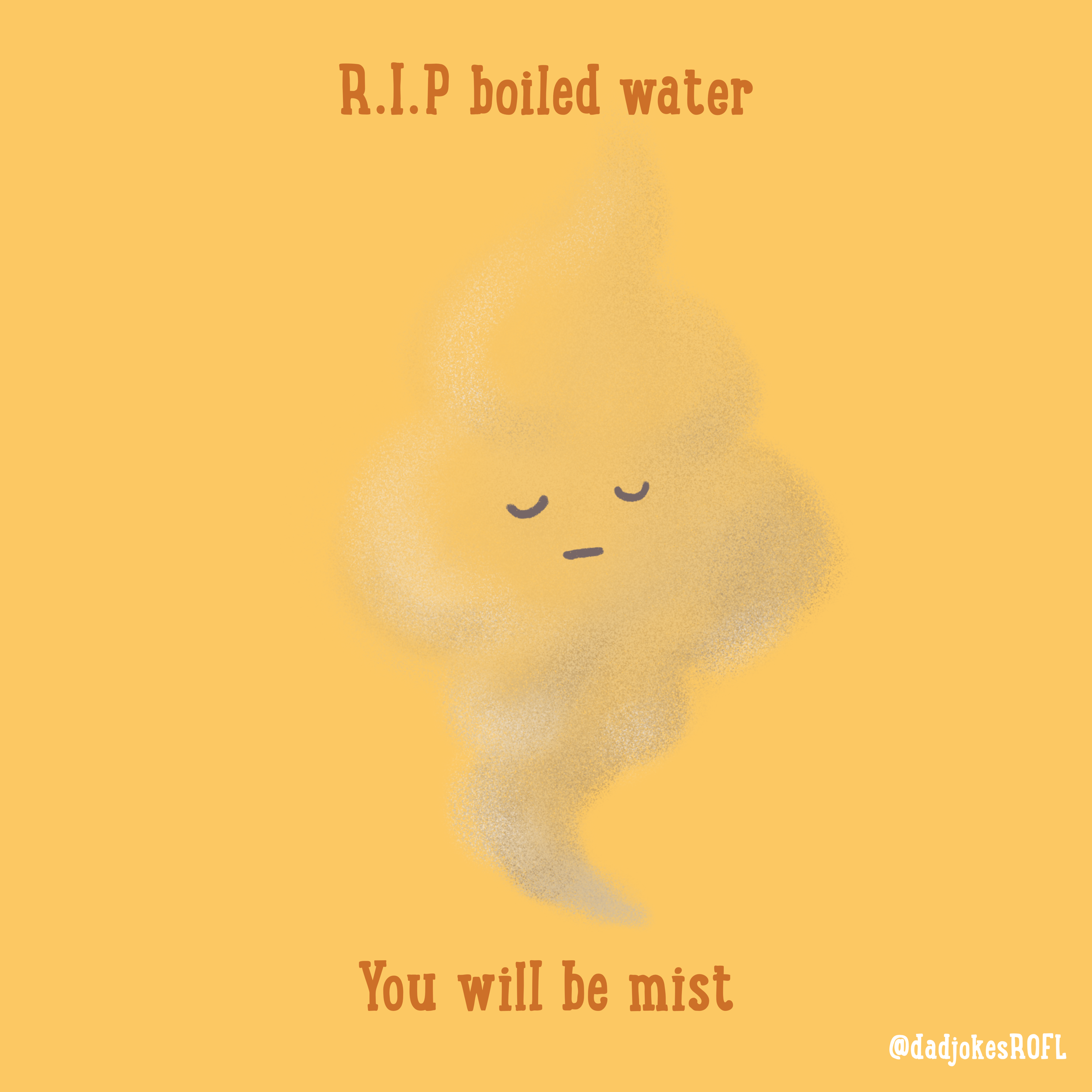R.I.P boiled water. You will be mist.