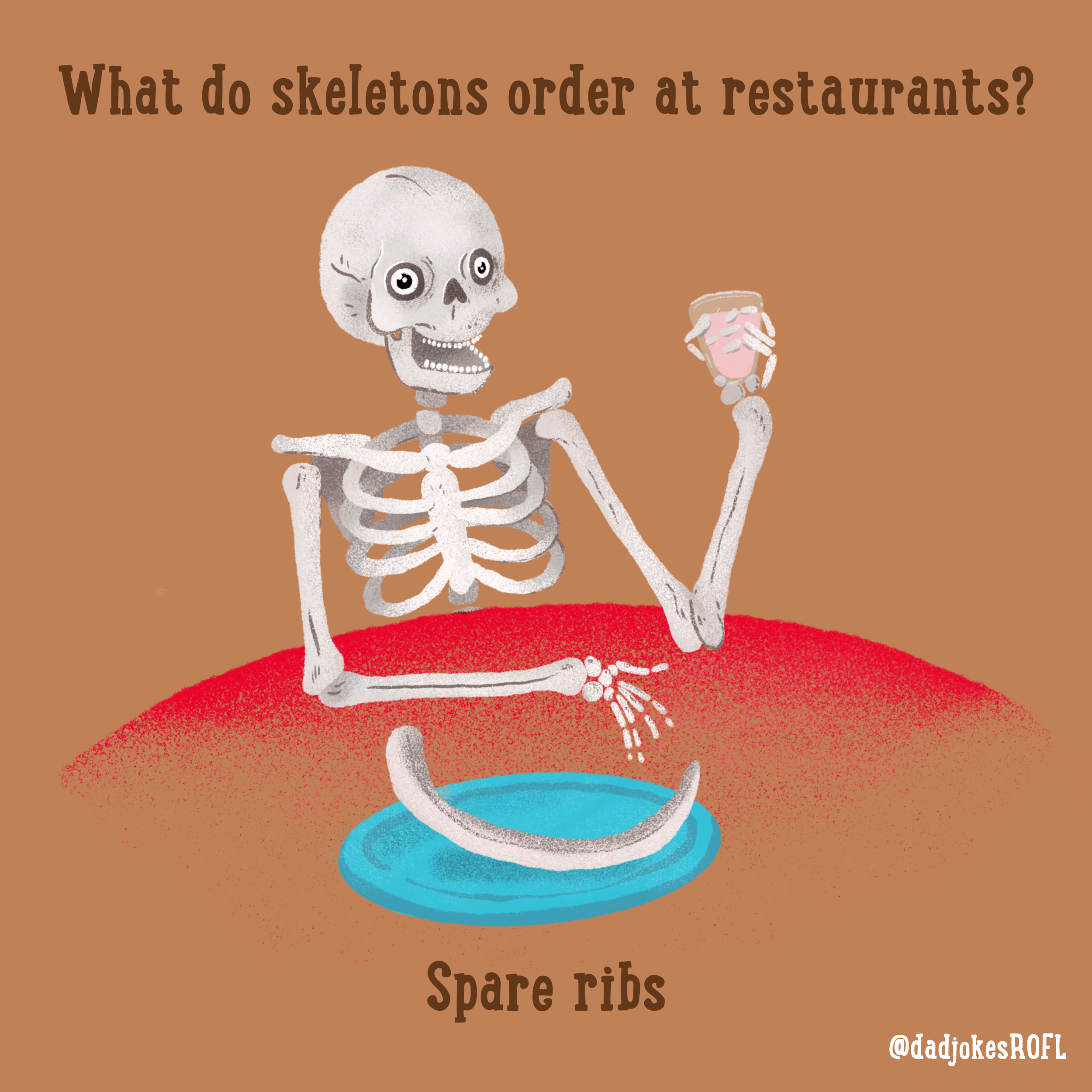 What do skeletons order at restaurants? Spare ribs