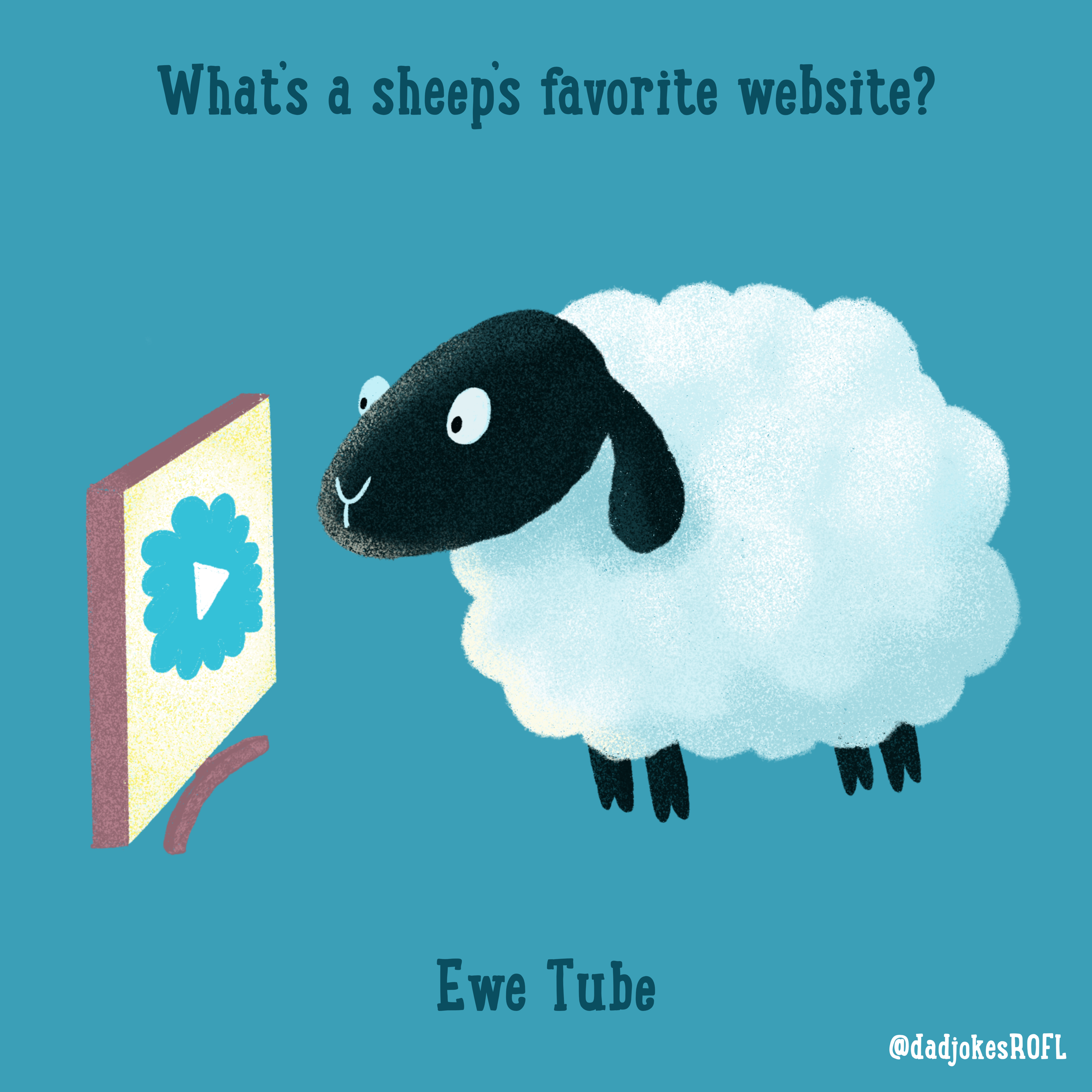 What's a sheep's favorite website? Ewe Tube