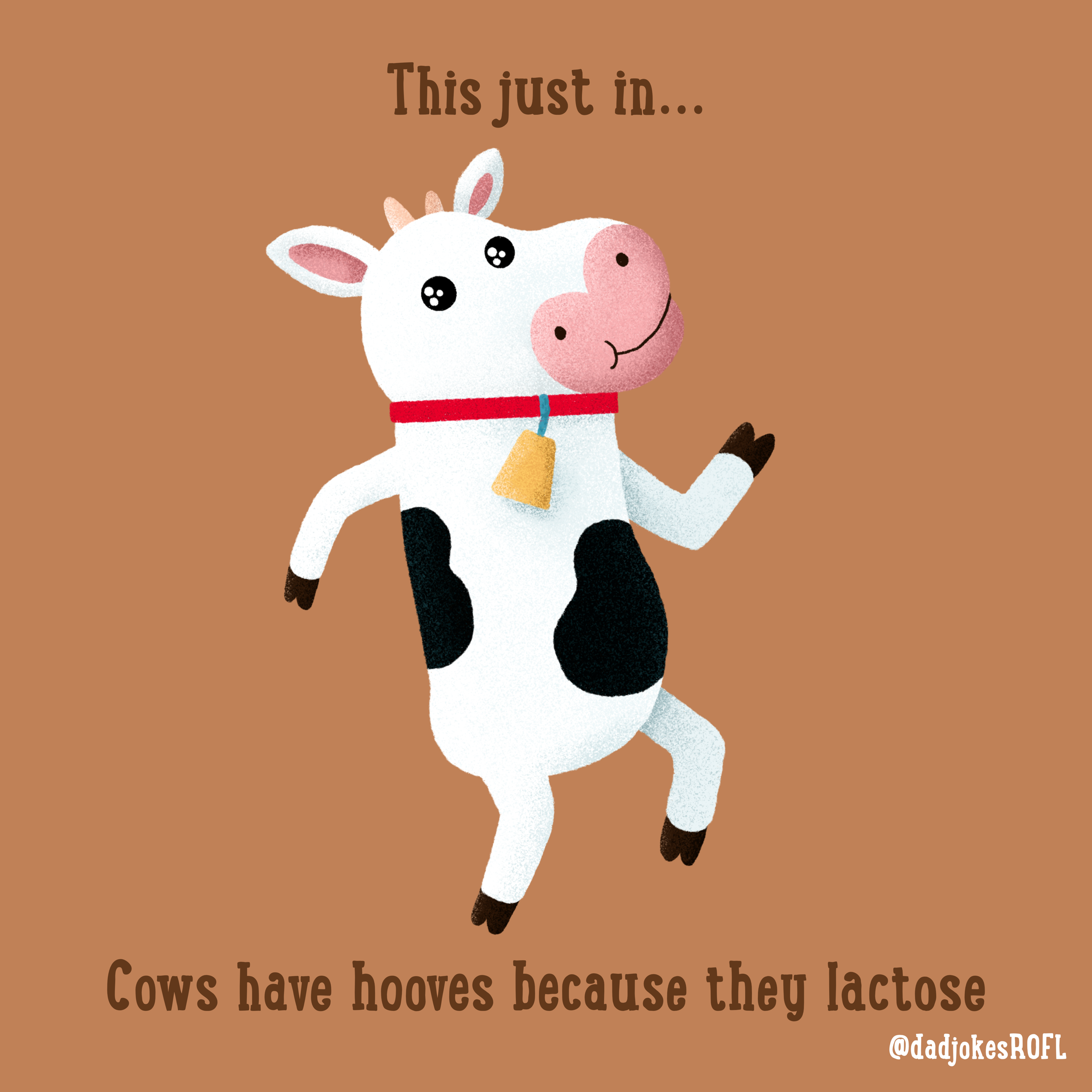 This just in... Cows have hooves because they lactose