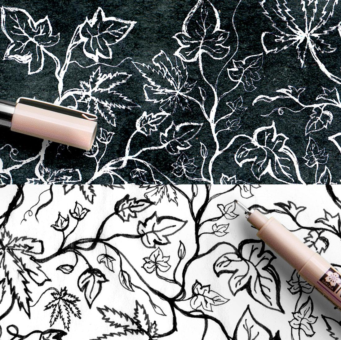 EyeSavvy Design Studio | Black Ivy Branding, Brand Identity, Brand Design, EP Branding, Graphic Design,  Hand-Drawn Pattern, Logo Design #branding #albumcover #brandidentity #branddesign #marketing #artisticbranding