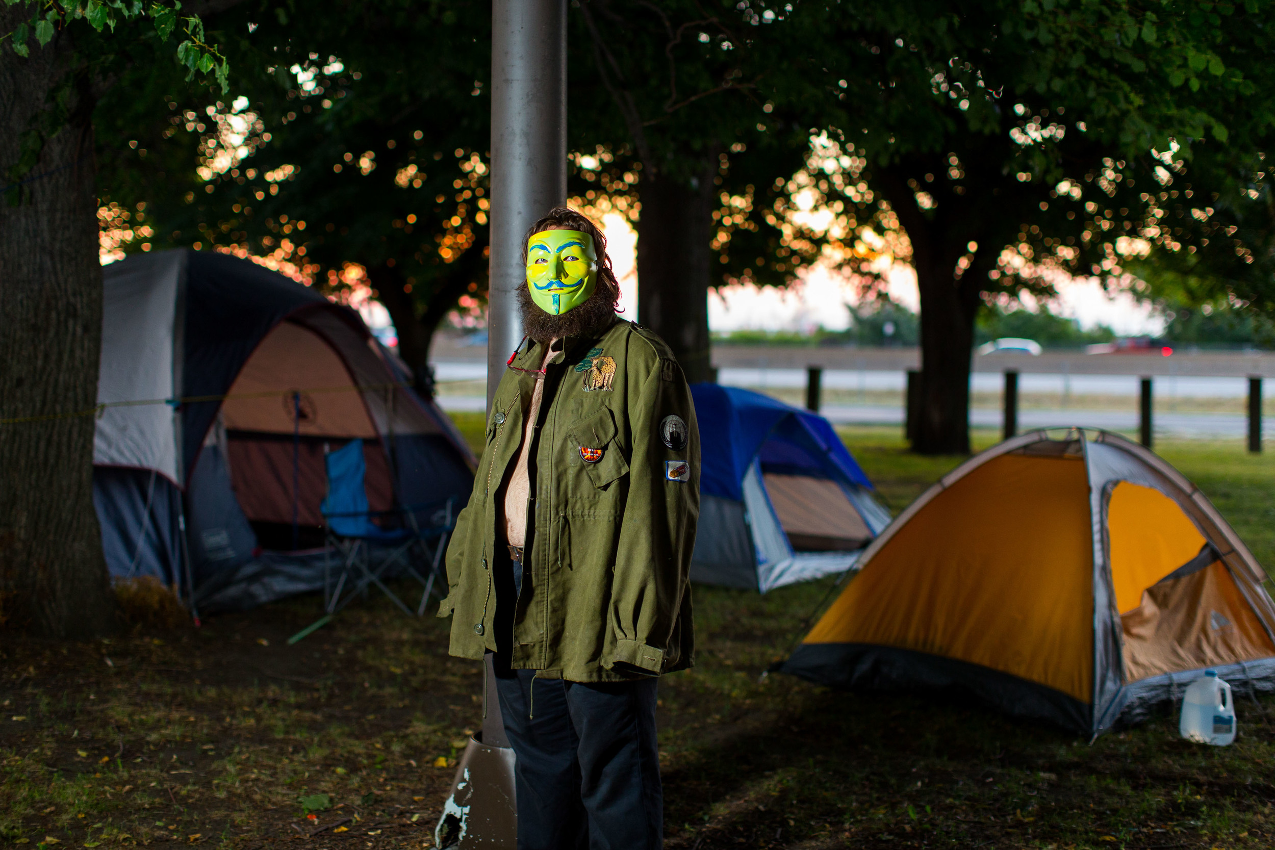 David Guthrie, one of the founders of the Occupy RNC camp.