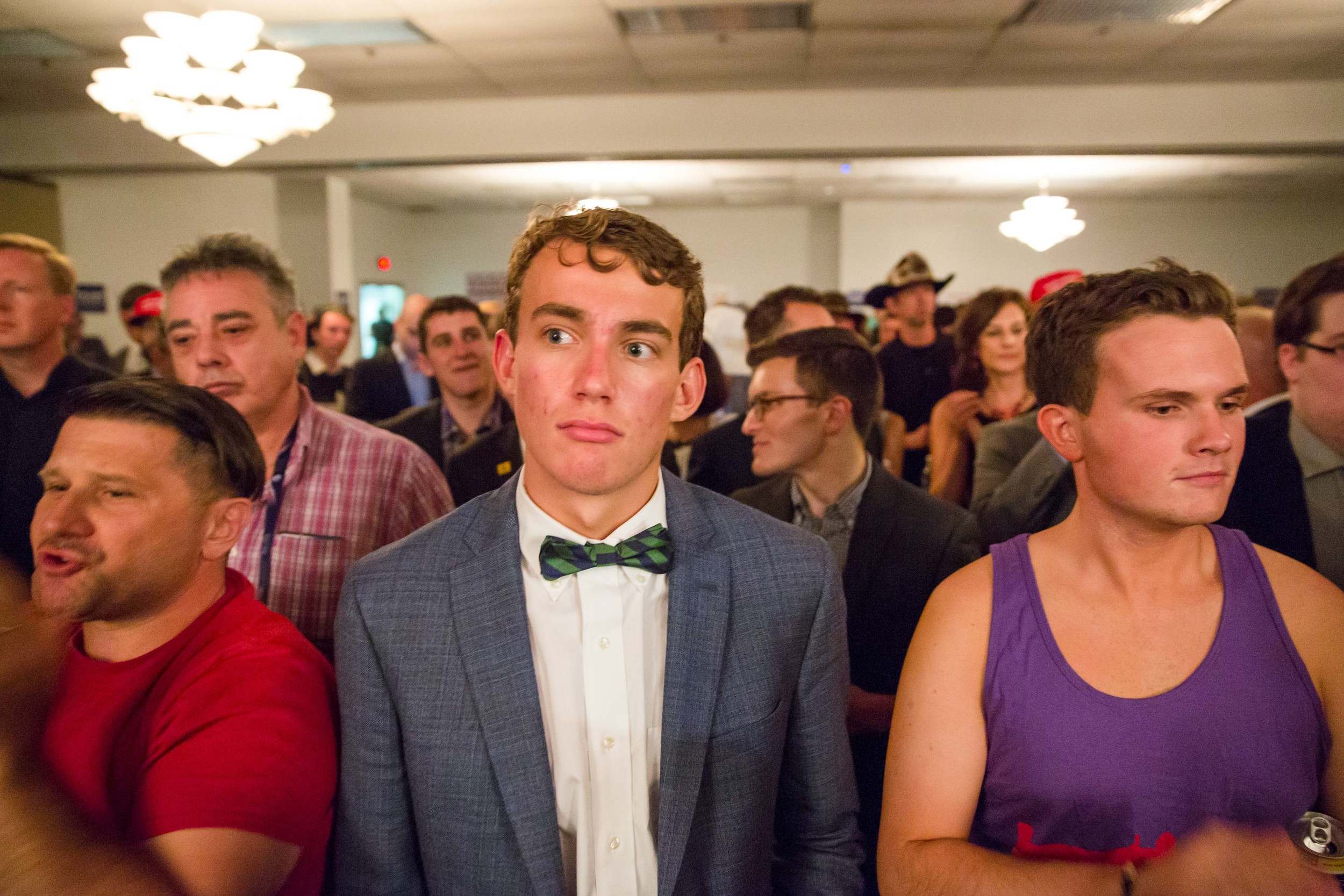 """The crowd at """"Wake Up,"""" a Gay Republicans for Trump event"""