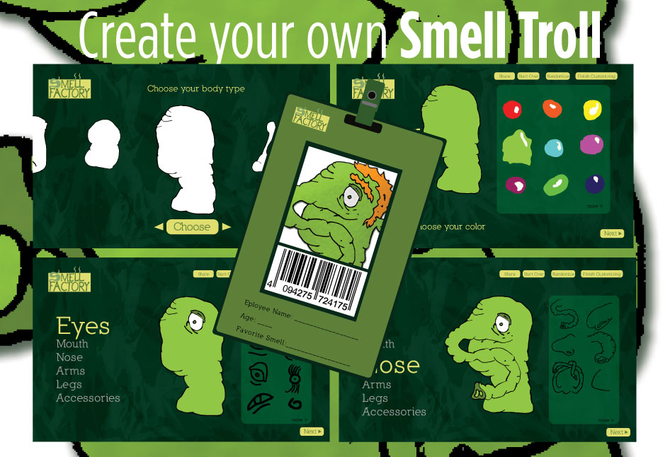 Go online to create your own Smell Troll.