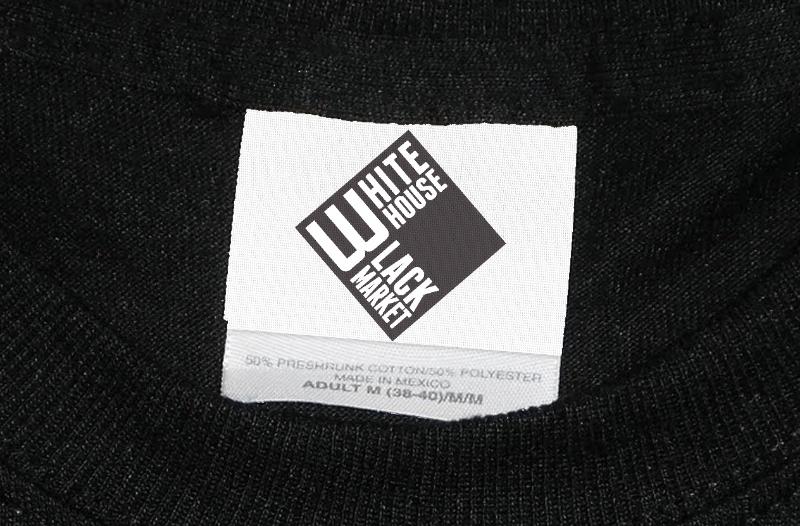 White House Black Market clothing store's logo.