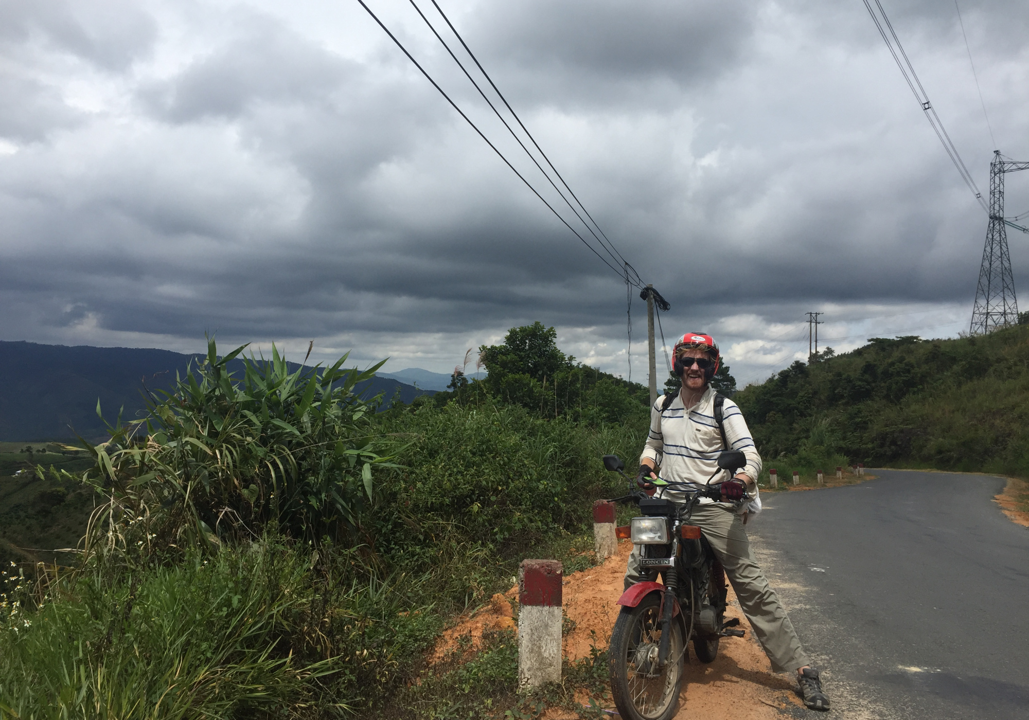 I drove a motorcycle up Vietnam. I had never driven a motorcycle before or anything that was manual so it was pretty scary at first but more rewarding because of it.