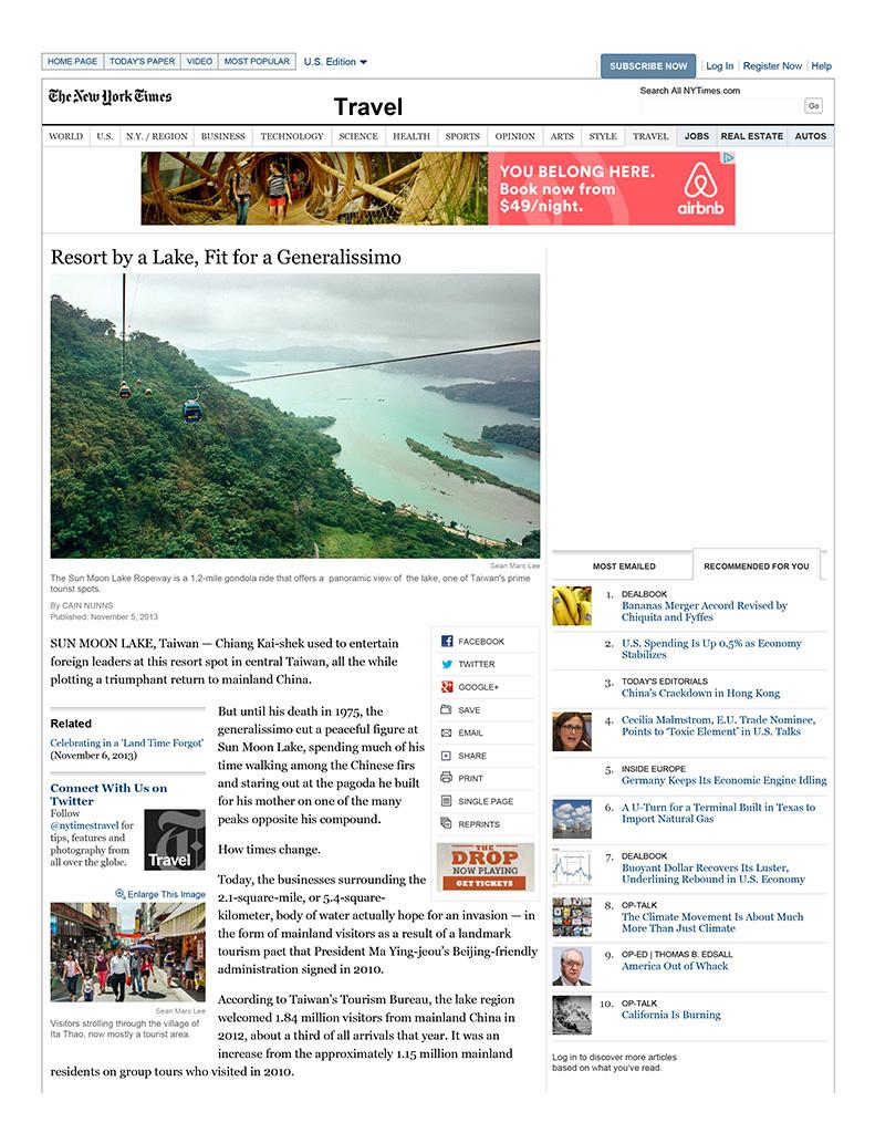 New York Times November 2013