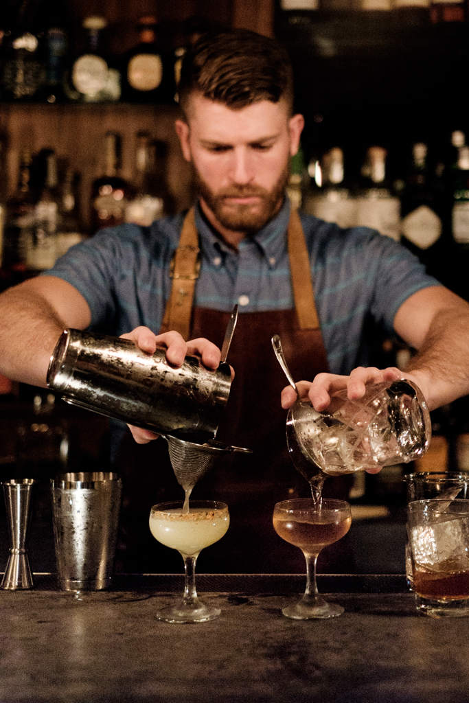 Jeff Bell of PDT guest bartending at Ounce Taipei in Taiwan.