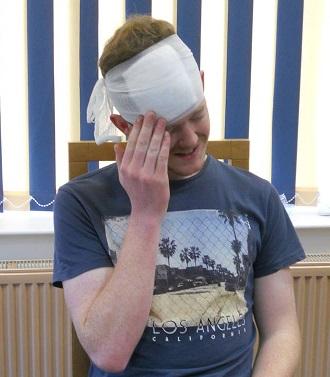 My head still hurts! (Harry, Bridlington course, 2013)