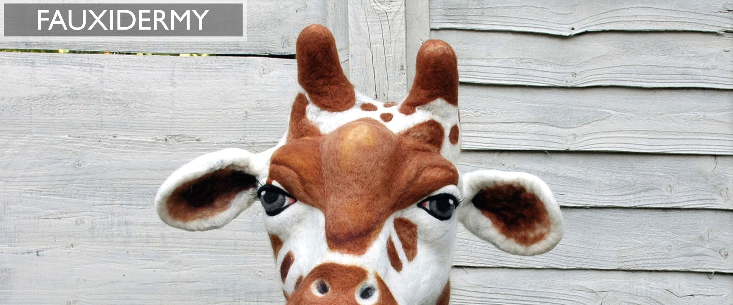 For the animal lovers out there.... faux animal trophy heads to adorn your walls.