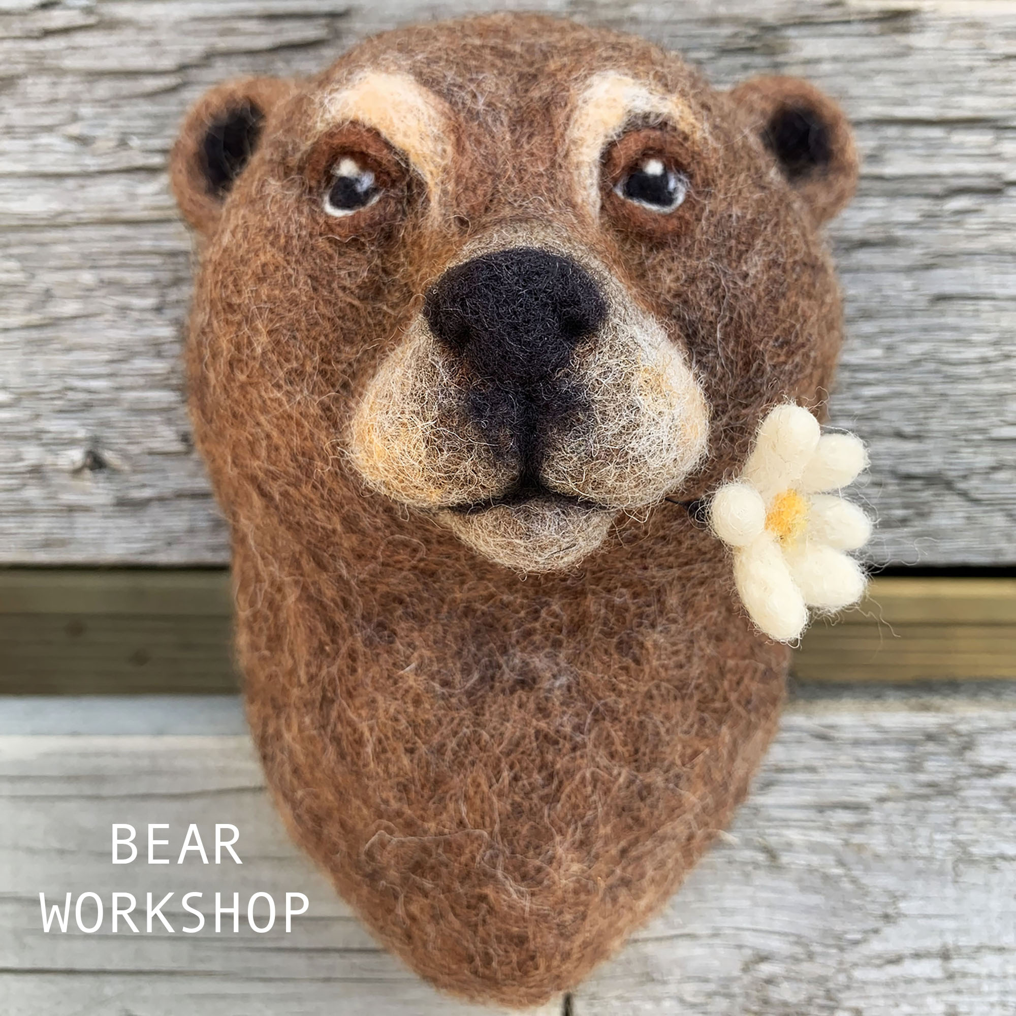 Bear Needle Felting workshop