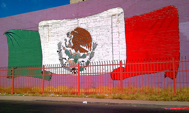 Mexican Flag Mural, Ms. Phoenix,  used by permission