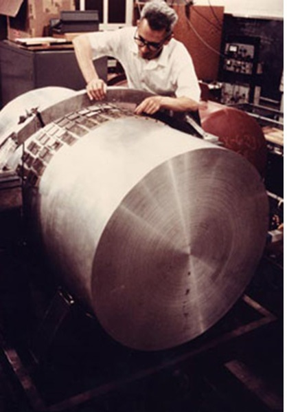 Weber worked on his resonant bar antennae for decades to try and gather evidence of gravitational waves.