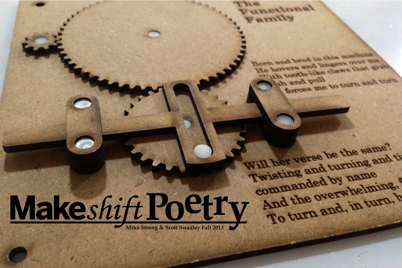 The MAKEShift Poetry project marries creative writing and simple machine design to yield captivating, multimedia pieces of techno-art work.