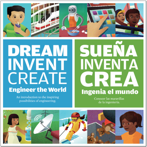 For Spanish-speaking ELL's, our bilingual elementary engineering book can be a great way to start bridging gaps in comprehension and achievement. It features engaging illustrations and side-by-side English-Spanish text to help language learners build their English vocabulary.