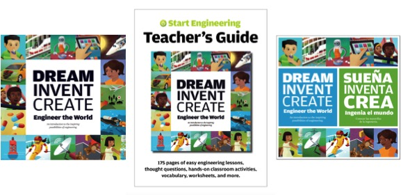 Our classroom bundle includes 25 copies of Dream, Invent, Create and the accompanying Teacher's Guide, available as a downloadable pdf, all for $249.