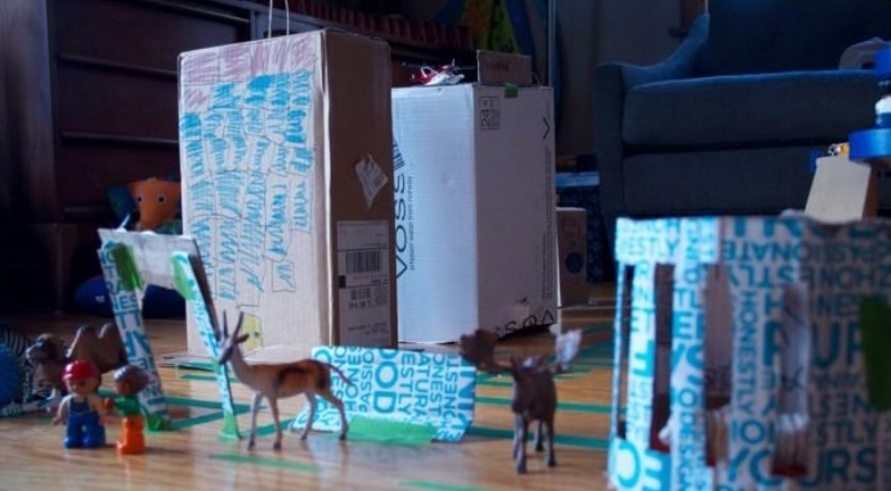 Cardboard boxes can be the raw materials for a full urban planning project, in which kids design, map, develop, and maintain their own invented city.