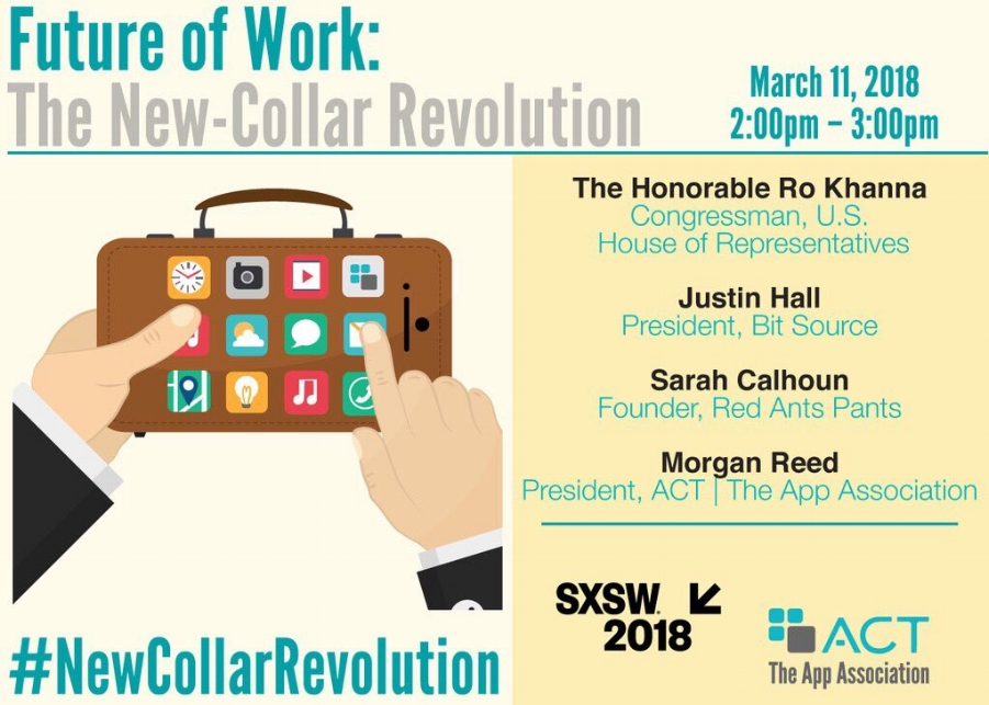 """The idea of """"new collar"""" jobs is finding wide circulation and discussion among policy makers and business leaders alike, such as at this year's SXSW."""