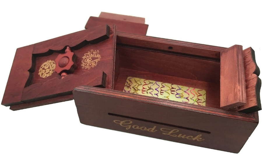 Getting to the gift inside is half the fun with a puzzle box.