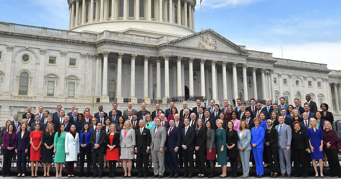 Newly elected Members of the House of Representatives gather before the 116th Congress convenes for a new legislative session.