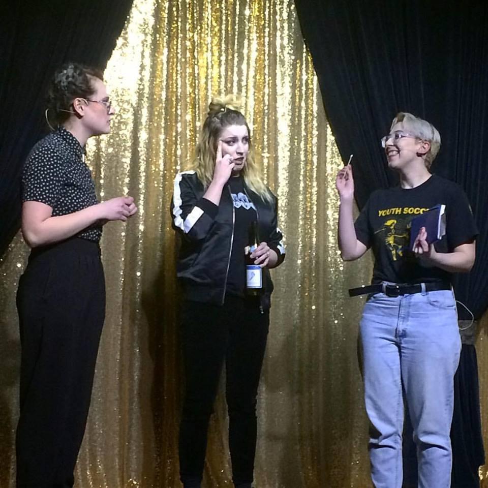 Comedy Coven (L-R): Stephanie Onderchanin; Tricia Chamberlain; Emily Syrja