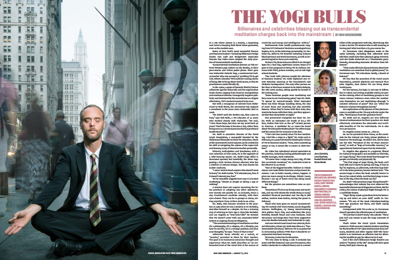 Tear sheet from The New York Observer