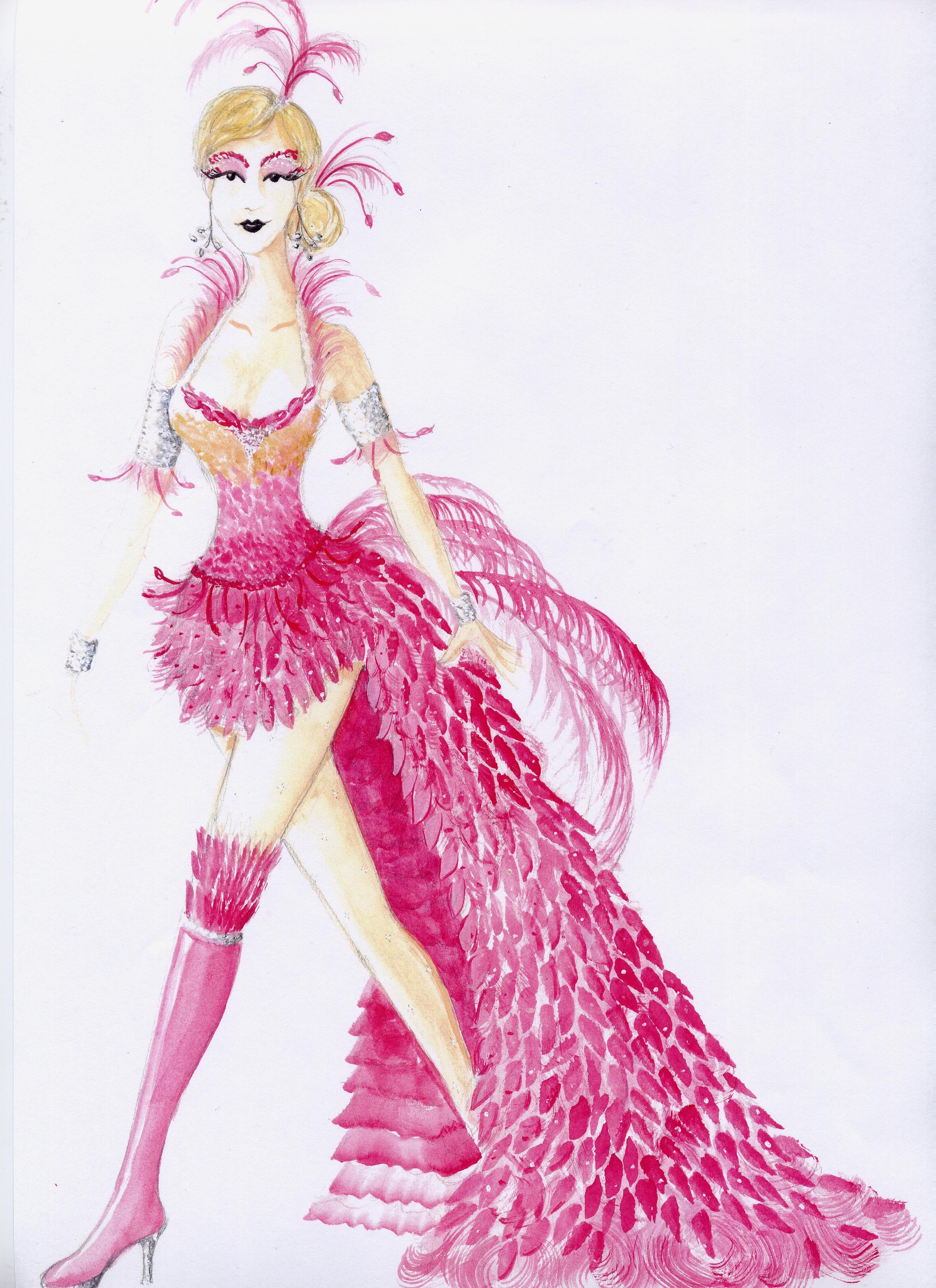 Flamingo costume rendering
