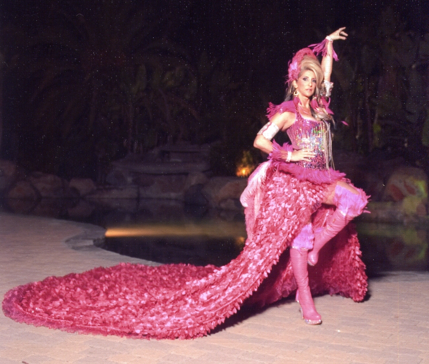 Deni Jacobs in Flamingo costume