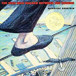 While the tragic events of 9/11/2001 may be too scary for early readers, here's an age-appropriate & awe-inspiring book that teaches kids about risk and optimism. It celebrates the twin towers before they fell, when Philippe Petit dared to walk between them on a tightrope in 1974. Mordecai Gerstein's illustrations won him the 2004 Caldecott Medal. #PatriotsDay #NeverForget #September11 #NeverForget911 #september11th2001