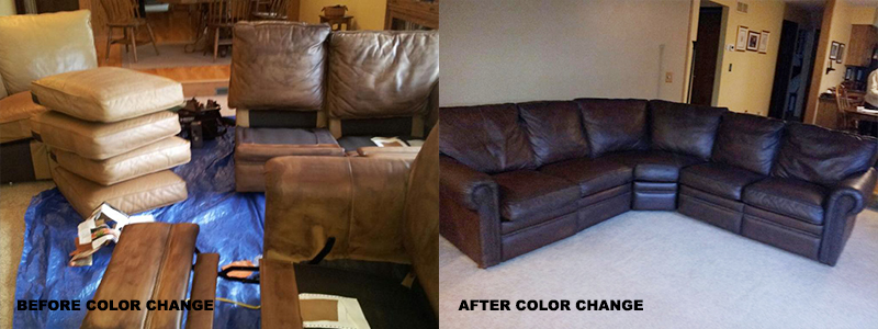 Leather Couch Color Change Repair and Restoration Oakland County, MI - Leather Couch Color Change Repair and Restoration Macomb County, MI - Leather Couch Color Change Repair and Restoration Wayne County, MI