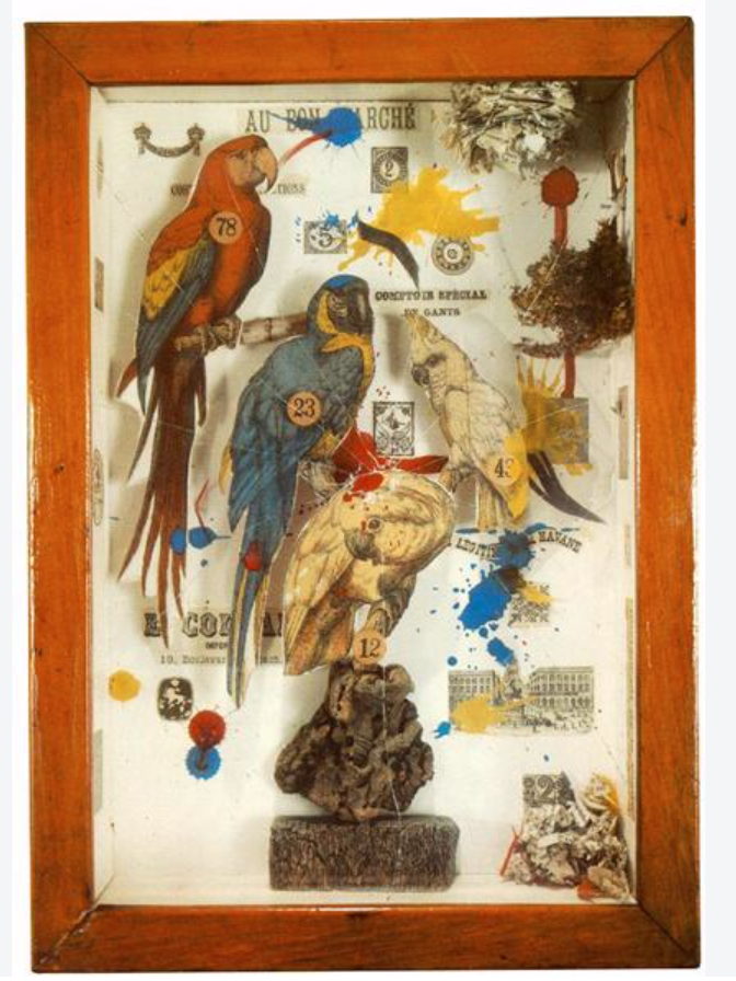 "'Habitat for a Group Shooting Gallery"" Joseph Cornell, 1943 - photo credits Royal Academy"