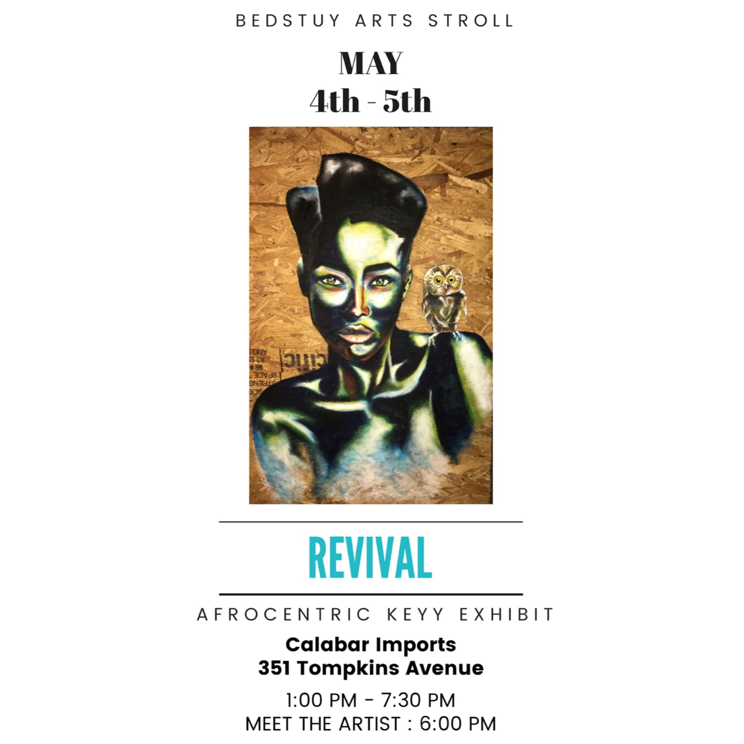 """Revival"", 2019 - Opening Reception is on Saturday, May 4, 2019 (5pm - 8pm). Show runs from May 4th - 31st.Meet the artist: May 4th - 5th at 6:00pm"