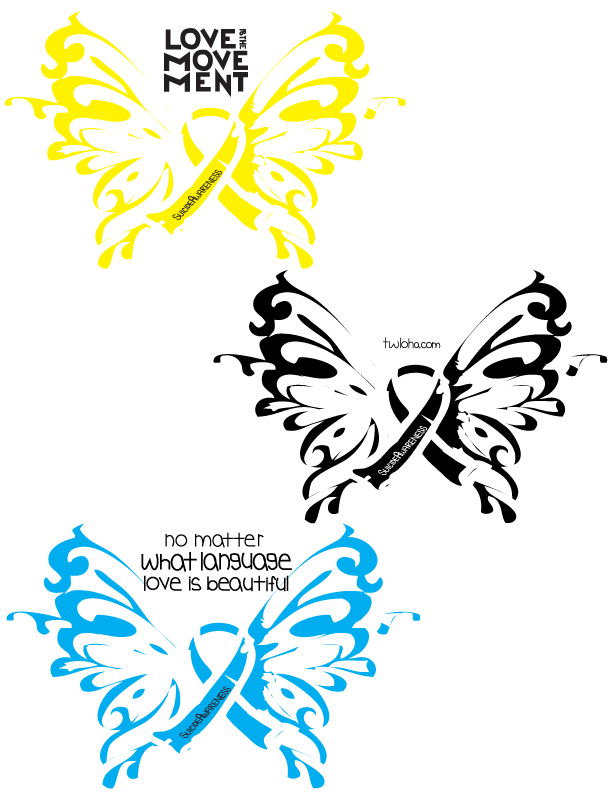 Sticker design created for a mock Love is the Movement campaign for To Write Love on Her Arms.
