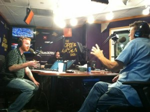 Dave and Pepper with Cousin Brucie at the SiriusXM Studios.