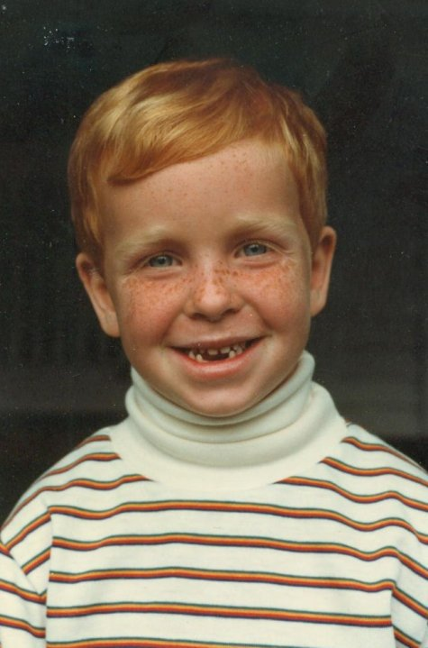 Dave liked turtle necks as a youngster