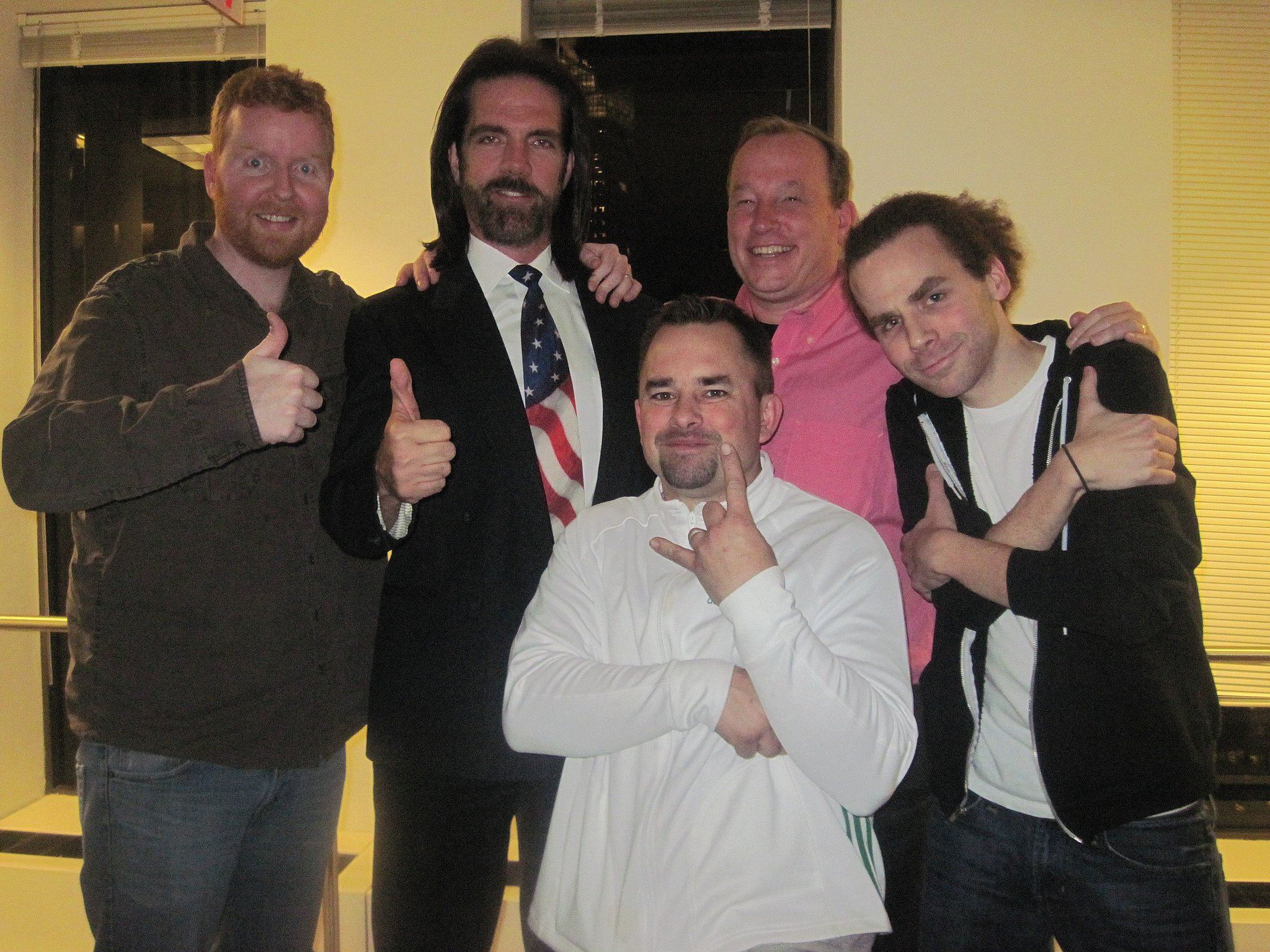 Dave with Billy MItchell, Steve Sanders, Sam
