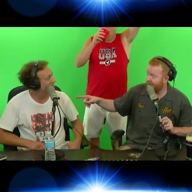 Dave at Live From The Compound with Anthony Cumia of the Opie & Anthony Show
