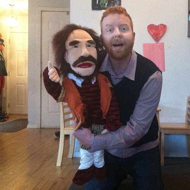 Puppets make Dave happy