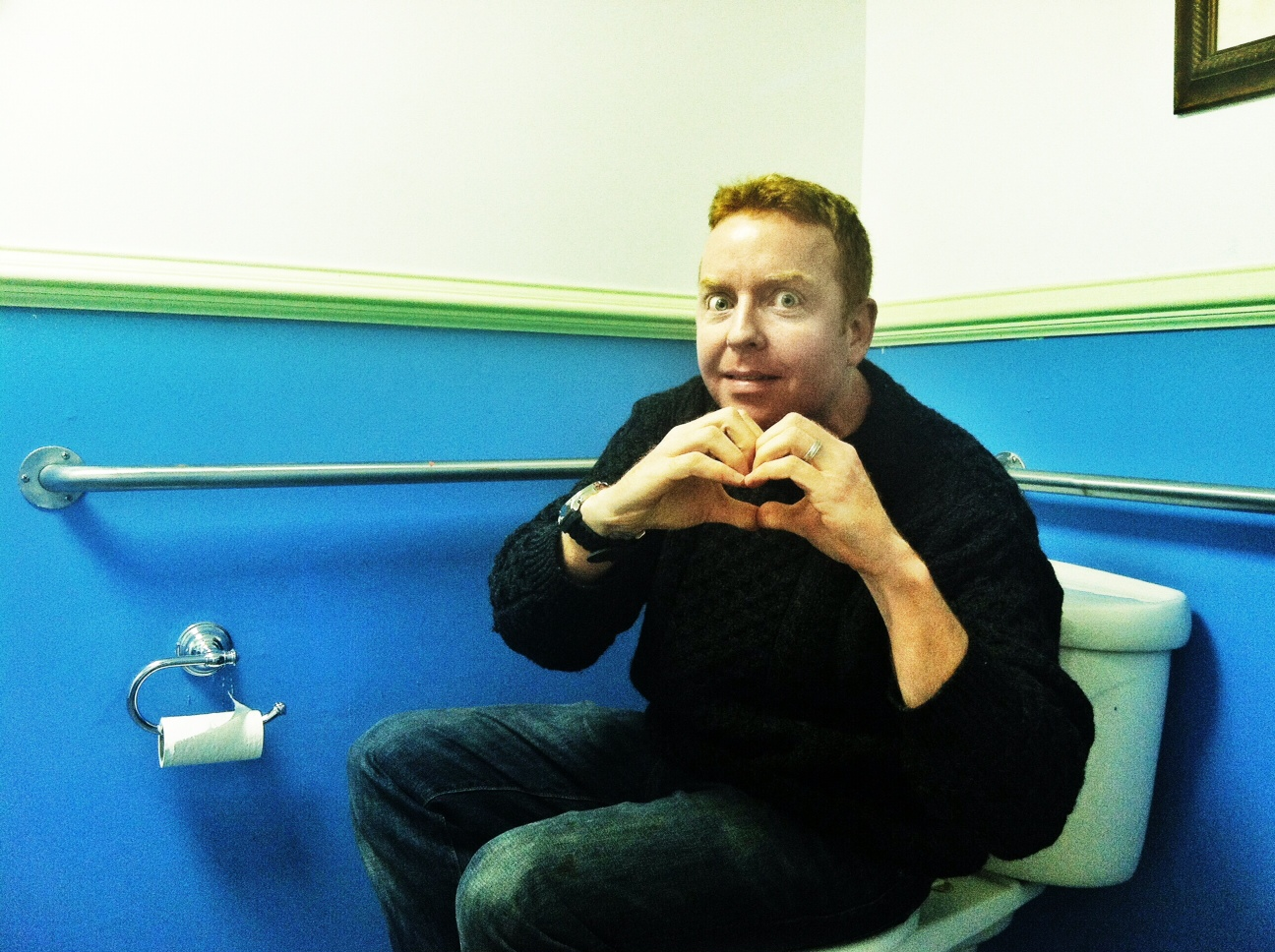Dave hearts you...on the toilet.
