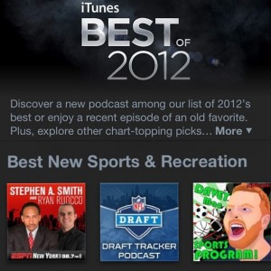 """Davey Mac Sports Program (online version) - named """"BEST of the YEAR"""" by the iTunes Editorial Team."""