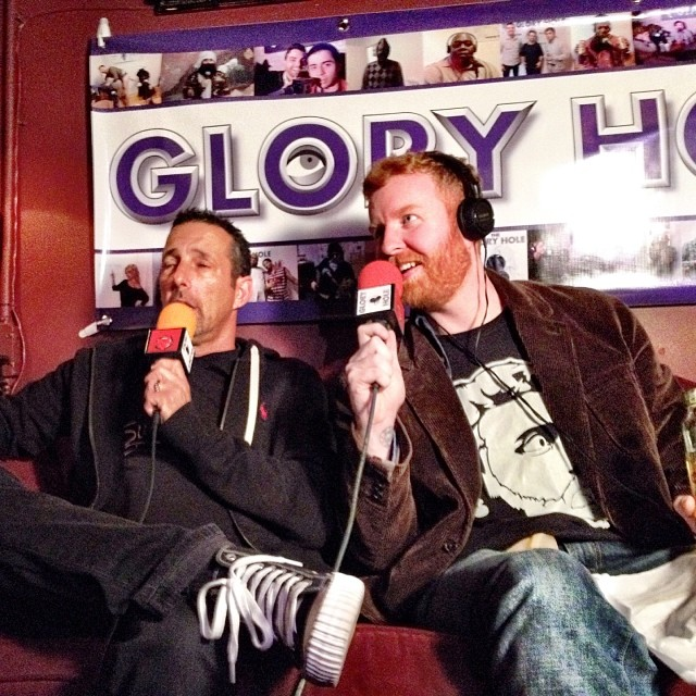 Dave and comedian Rich Vos on the Glory Hole radio show