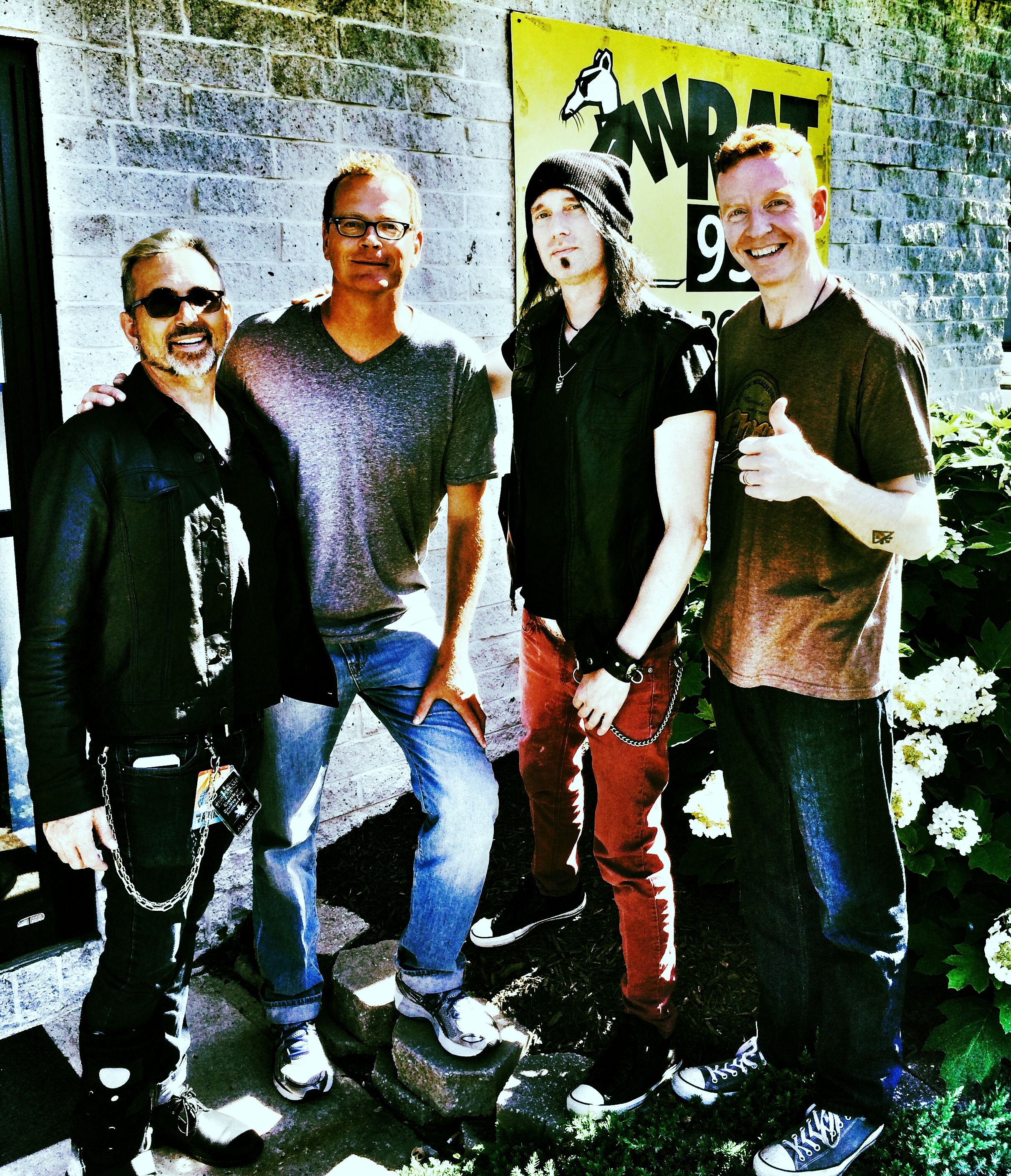 """Art Alexakis, Carl Craft, Dave French, """"East Side"""" Dave McDonald"""
