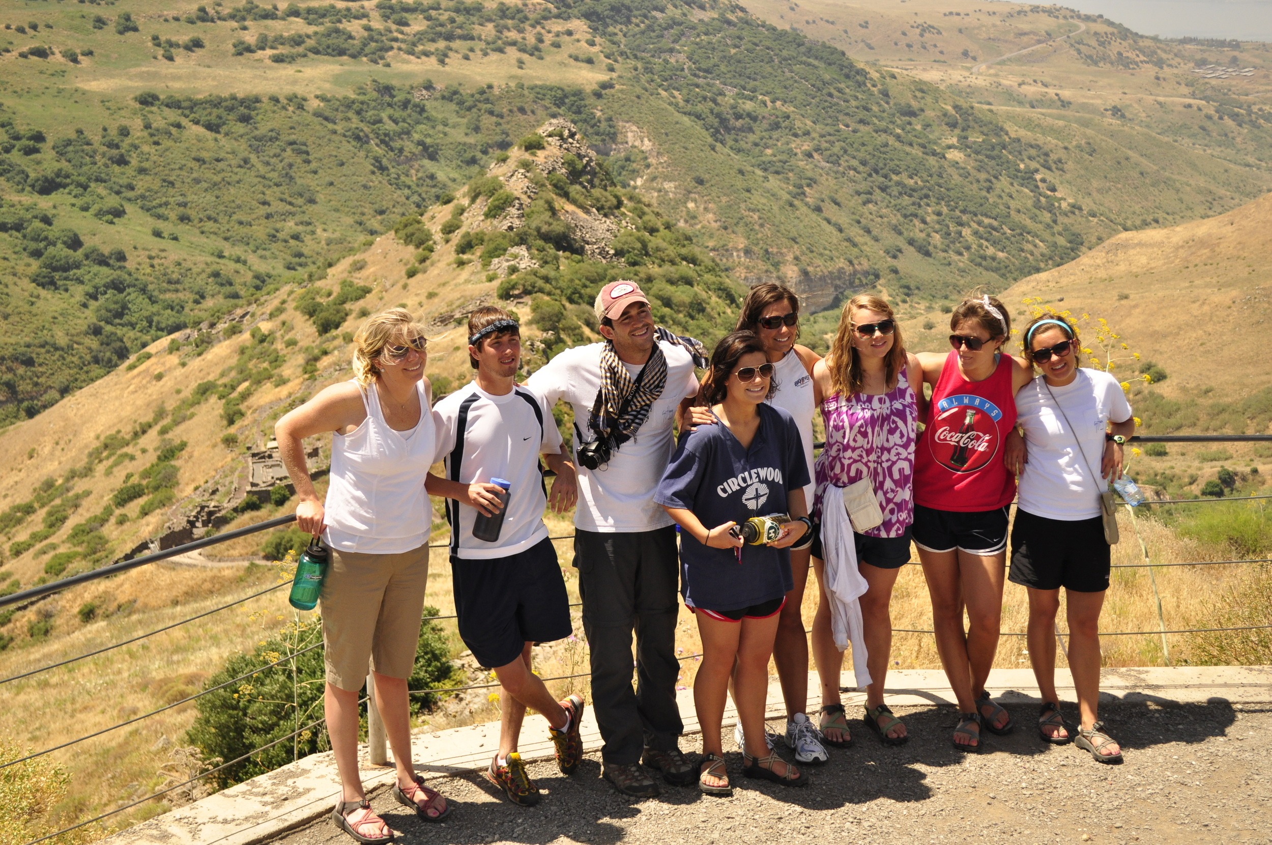 Morgan in Israel with her Legacy class of 2010. (She is in the Coke tank-top)