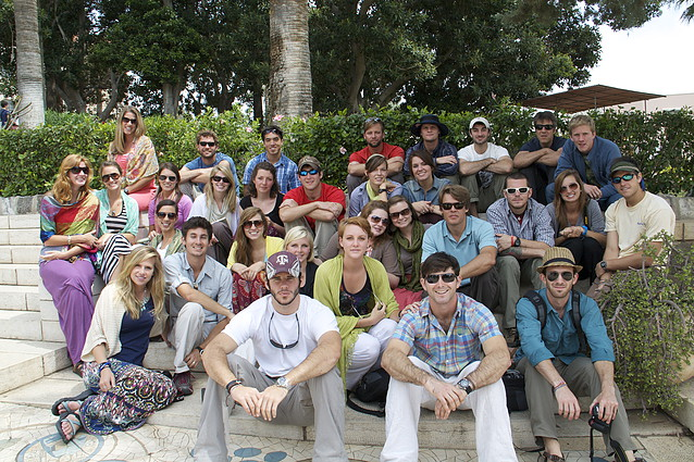 Taylor with the Legacy class of 2011 in Israel. He is on the top row, 4th from the right.